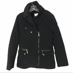 Blank NYC Sz Lg Quilted Black Jacket